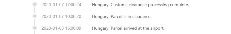 Customs clearance in EU Warehouse Gearbest