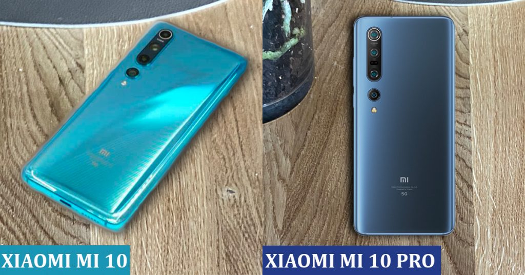 Xiaomi Mi 10 (Ice Blue) vs Xiaomi Mi 10 PRO (Starry Blue)